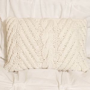 Adorable Farmhouse Style Sweater Accent Pillow